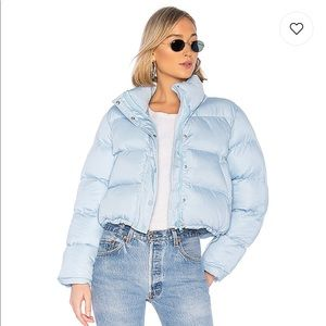 NWT Lovers + friends Puffer jacket in baby blue